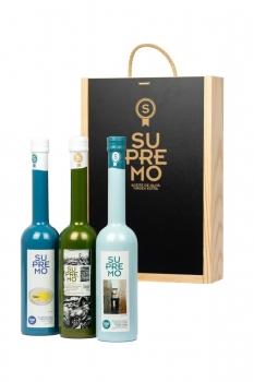 PACK REGALO ESPECIALES - Caja de Madera de Lujo (3 Botellas x 500 ml)