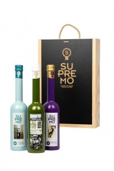 PACK REGALO JAÉN - Caja de Madera de Lujo (3 Botellas x 500 ml)