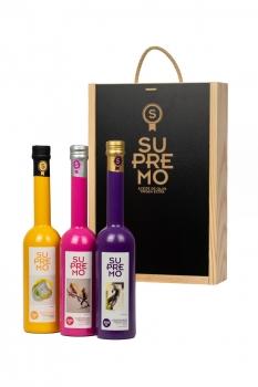 PACK REGALO - Caja de Madera de Lujo (3 Botellas x 500 ml)